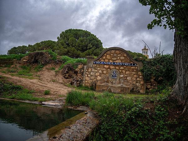 Nueva ermita de la Virgen de la Estrella que sustituyó a la antigua que quedó inundada por el pantano de Alarcón en Buenache de Alarcón (Cuenca) de la que es su patrona. Otro de los rincones que ver en la Manchuela Conquense (Castilla la Mancha)