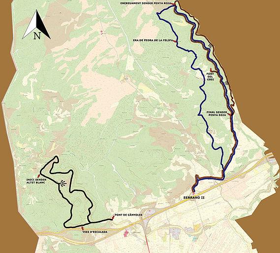 Rutas y parajes en La Font de la Figuera (Valencia) situadas la norte de la Autovía de Levante A-35