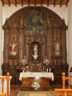 Retablo mayor de la Ermita de la Virgen de la Piedad de Urbanos en Torrejoncillo del Rey (Cuenca)