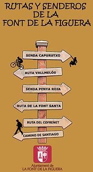Rutas y senderos de La Font de la Figuera (Valencia)