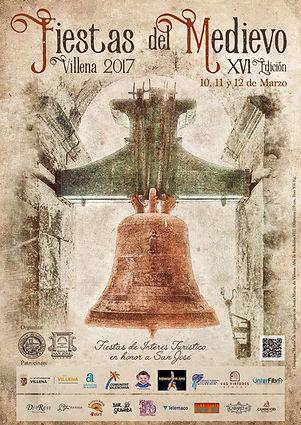 Cartel anunciador de las Fiestas del Medievo en la ciudad de Villena (Alicante) en honor a San Jóse declaradas de interés turístico