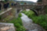 Ponte do Pasatempo sobre el río Valiñadares en Mondoñedo (Lugo) Galicia Spain