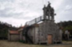 Igesia de San Xoán de Vilacoba, parroquia de Salvaterra de Miño (Pontevedra) Imagen de Photoperiplo.