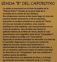 Leyenda senda B del Capurutxo en La Font de la Figuera en Valencia