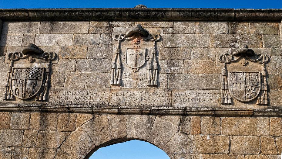 Detalle de la Puerta de la Inquisición en Corzáns (Salvaterra de Miño, Pontevedra)