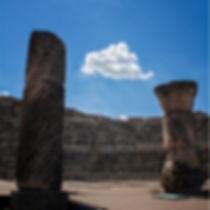 Photoperiplo estuvo jugando con las nubes y la historia en Segóbriga (Saelices, Cuenca, Castilla La Mancha)