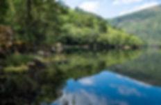El río Mao en las proximidades de Barxacova donde desemboca en el Sil en plena Ribeira Sacra en Parada de Sil. Photoperiplo estuvo allí.