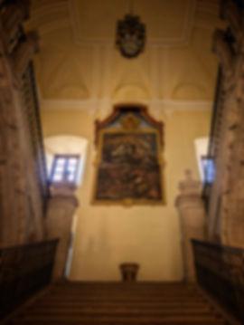 Escalera principal de acceso al claustro superior del Monasterio de Uclés (Cuenca) Photoperiplo subió por ella fotografiando sus detalles...