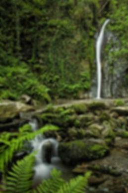 La Ruta del Agua nos llevará al Salto do Coro, bonita cascada del río Valiñadares en Modoñedo (Lugo) Galicia España