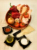 Ingredientes para un arroz y pata de chuparse los dedos
