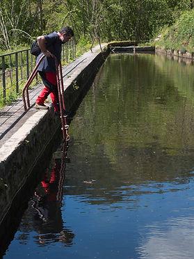 Azud habilitado para el baño en el Área Recreativa da Fervenza en Mondoñedo (Lugo) Galicia, Photoperiplo estuvo allí