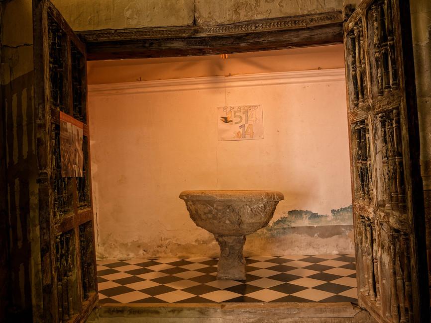 Pila bautismal datada en el año 1514, cinco siglos de historia...