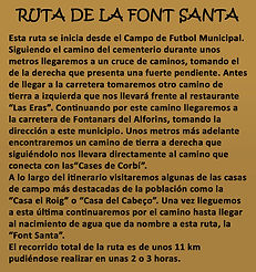Leyenda ruta de la Font Santa en La Font de la Figuera