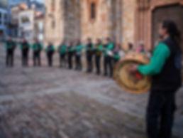 Agrupación de Gaitas Virgen del Camino de León de visita por Mondoñedo (Lugo) Galicia Spain con motivo de una de las fiestas que se celebran allí: As Quendas 2017