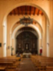 Interior de la Ermita de la Virgen de la Piedad de Urbanos en Torrejoncillo del Rey (Cuenca)