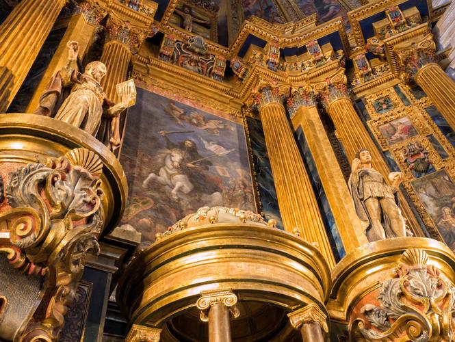 Detalles del retablo mayor...