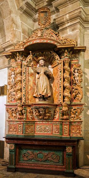 Retablo de Santiago en la iglesia de Fornelos