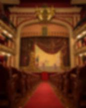 Interior del Teatro Chapí en Villena, una joyita de teatro
