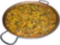 Paella de pulpo en Restaurantes y Hostal El Serrano I y II en Moixent y La Font de la Figuera (Valencia)