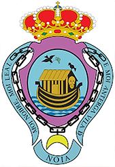 En el escudo de armas de Noia (A Coruña) aparece el Arca de Noé sobre las aguas y una paloma con un rama de olivo en el pico, así se rememora la leyenda