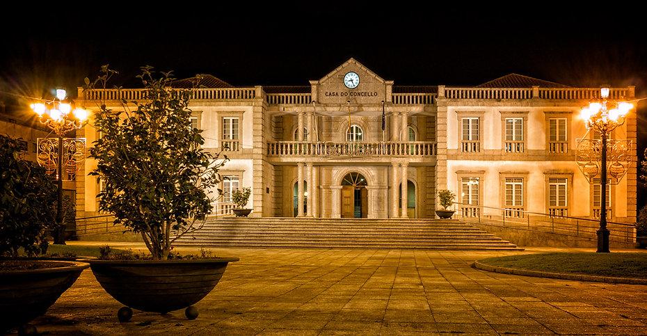 Casa do Concello de Salvaterra de Miño en Pontevedra (Galicia) España. Fotografía de Photoperiplo.