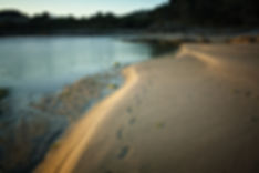 Playa de Cabanas en Tal, Muros (A Coruña) al atardecer.