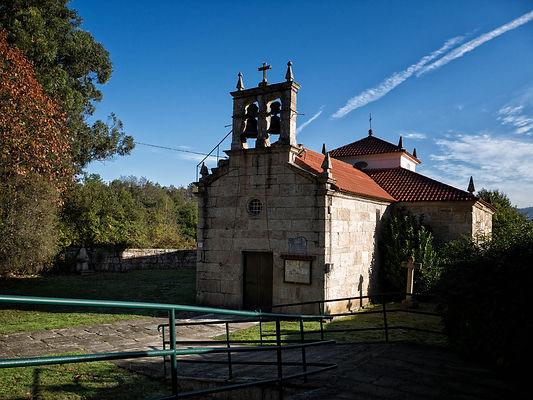 Iglesia parroquial de Santa Marina en Oleiros, Salvaterra de Miño, Galicia. Photoperiplo estuvo allí fotografiando.