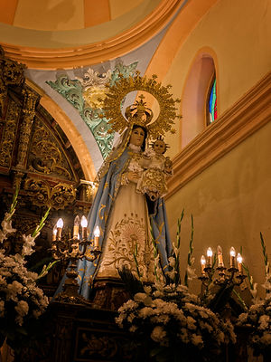 Virgen de los Remedios patrona de Horcajada de la Torre (Cuenca).