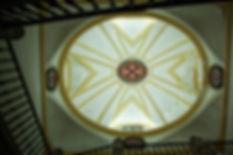 Cúpula de una de las escaleras de acceso al claustro superior del Monasterio de Uclés (Cuenca) situdada entre la sacristía y la iglesia ...