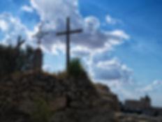 Una vista del Monasterio de Uclés (Cuenca) desde el Sepulcro, excavado en la roca, al que se accede por un Vía Crucis. Fotografía hecha por Photoperiplo.