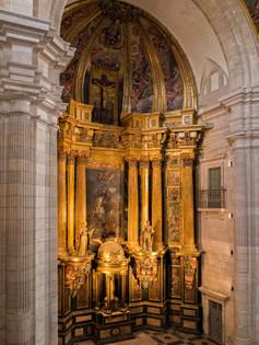 Vista general del retablo mayor ...