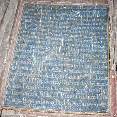 Leyenda en la que se recoge parte de la historia de esta iglesia de la Asunción en Vega de Santa María (Ávila). Photoperiplo estuvo allí.