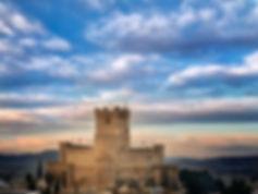 Castillo de la Atalaya de Villena en plenas Fiestas del Medievo en honor a San José declaradas de interés turístico