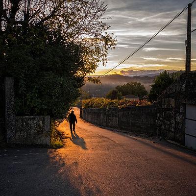 Atardecer en Arantei parroquia de Salvaterra de Miño (Pontevedra) Galicia. Photoperiplo, viajar y fotografiar estuvo allí, nos acompañas.