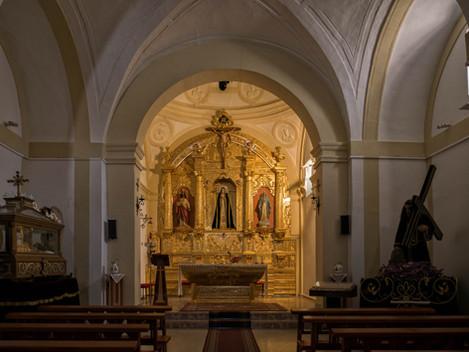 Interior de la ermita de la Soledad