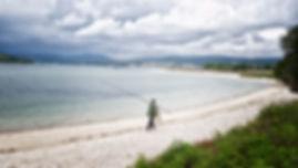 Playa de Testal, la más grande de Noia con un sistema dunar de gran valor ecológico