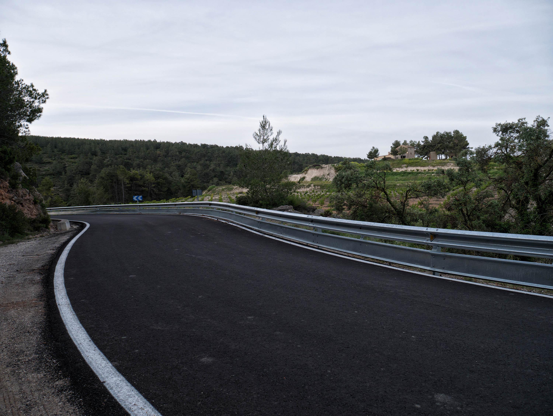 Carretera dirección a Moixent