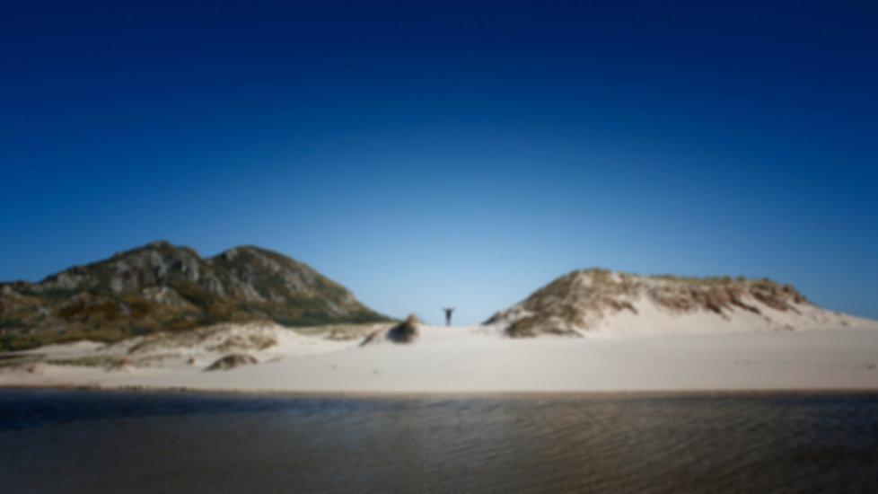 Muros (A Coruña) Monte Louro y Lagoa de Xalfas y sus dunas y playas