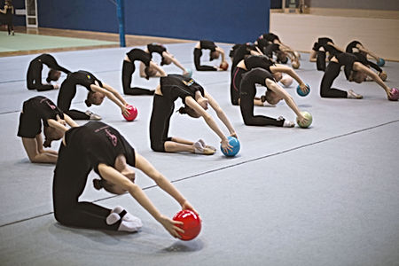 Gymnasts with Balls