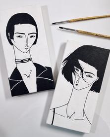Retratos em acrílica sobre tela