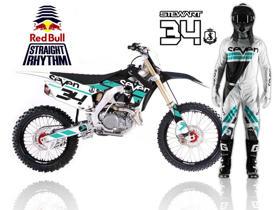 Custom Kit Design for Malcolm Stewart. Inaugural Red Bull Staright Rhythm