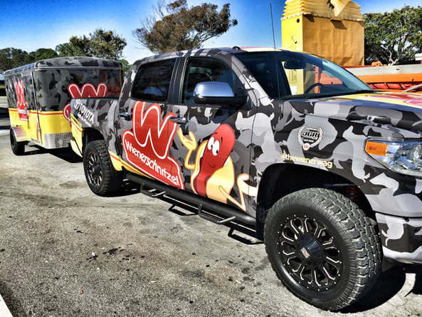 Wiener Camo Vehicle Fleet Design for Wienerschnitzel