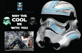 HandPainted Custom Stormtropper helmet for RAW artists Awards show in Hollywood.