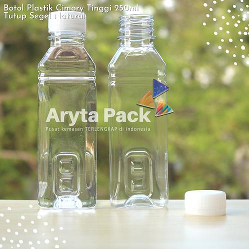 Botol plastik minuman 250ml cimory tinggi tutup segel natural