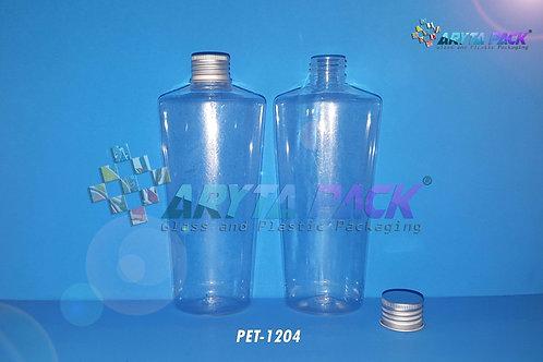 Botol plastik PET Sirih natural 250ml  tutup kaleng silver