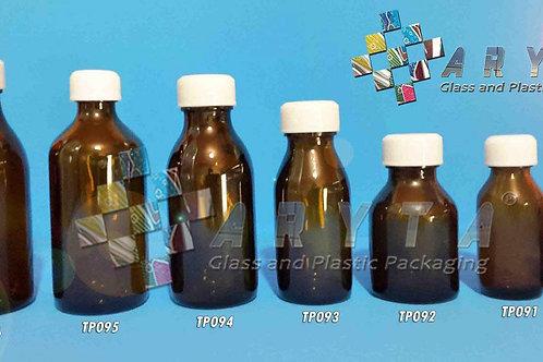 Botol kaca coklat 30ml BK second tutup plastik
