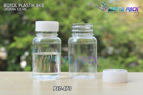 Botol plastik minuman 125ml BKB tutup segel natural