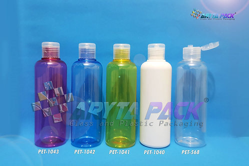 Botol plastik PET Joni 250ml natural tutup flip top natural