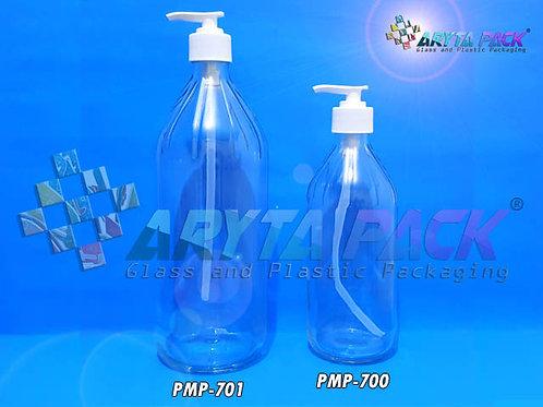 Botol kaca bening apel 500ml second tutup pump