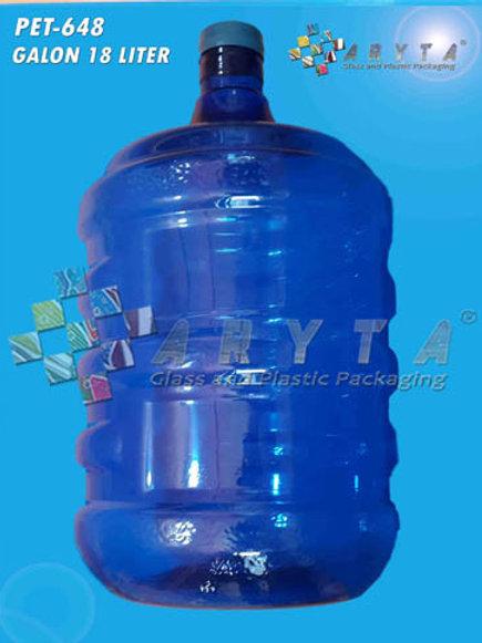 Galon plastik PET 19 liter biru tutup dop